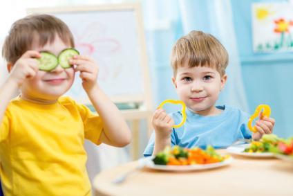 Kinder-essen-Gemuese