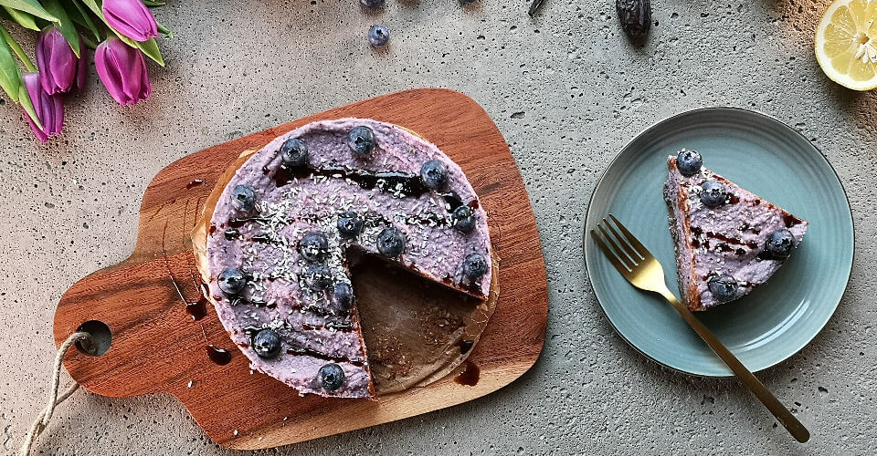 Blaubeer-Lavendel-Cheesecake
